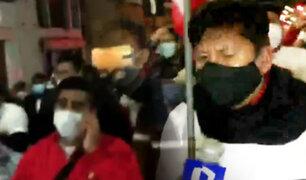 Waldemar Cerrón encabeza marcha de Perú Libre en Huancayo