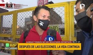 Puente Nuevo: diversas reacciones de ciudadanos tras primeros resultados de elecciones