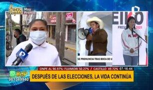 Plaza Norte: diversas opiniones tras primeros resultados oficiales de elecciones