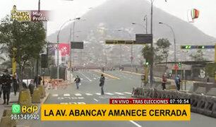 Cercado de Lima: avenida Abancay amanece cerrado al tránsito