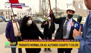Cercado de Lima: negocios y transporte funcionan con normalidad en av. Alfonso Ugarte