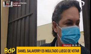 Daniel Salaverry fue insultado a la salida de su local de votación en Trujillo