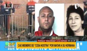 Miembro de Cosa Nostra es detenido por matar a su hermana porque engañaba a su esposo
