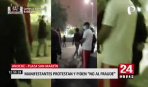 Plaza San Martín: manifestantes se congregaron para exigir resultados libres de fraude