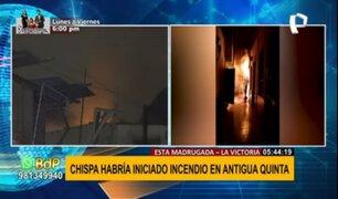 La Victoria: dos heridos deja voraz incendio en vivienda dentro de una quinta