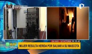 Incendio en quinta de La Victoria: mujer resultó herida por rescatar a su mascota
