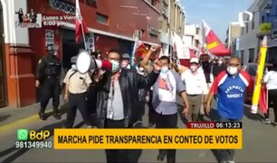 Perú Libre: marchan en el interior del país para pedir transparencia en conteo de votos