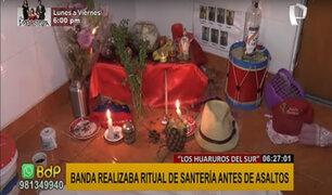 Banda criminal realizaba ritual de santería antes de cometer asaltos