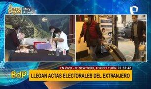 Segunda vuelta: contabilizan actas electorales recién llegadas del extranjero
