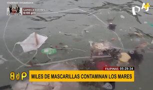 Filipinas: miles de mascarillas contaminan los mares