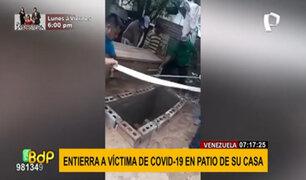 Venezuela: entierran a familiar víctima de COVID-19 en el patio de su casa
