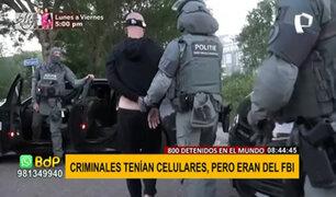 Operativo internacional detiene a 800 criminales gracias a un aplicativo de mensajería