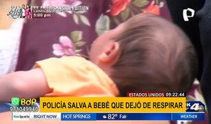 EEUU: Policía salva a bebé que dejó de respirar tras administrarle gotas para gases