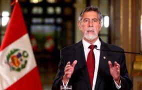 Presidente Francisco Sagasti ofrecerá un pronunciamiento esta tarde