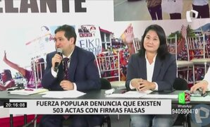 Keiko Fujimori: Todavía están en juego 500 mil votos que deberían ser analizados por el JNE
