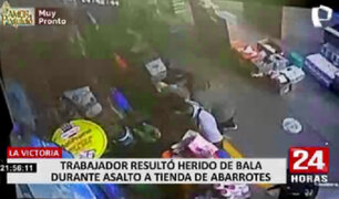 La Victoria: empleado de tienda resultó herido de bala al intentar frustrar asalto