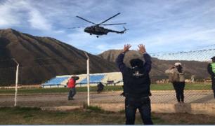 Actas electorales del Vraem llegan en helicóptero a Urubamba