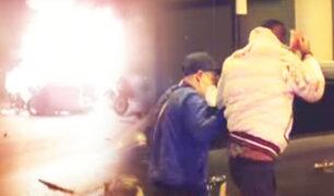 Auto estalla al chocar con tráiler en la Panamericana Sur y chofer escapa