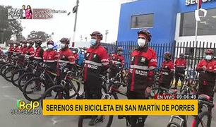 SMP: serenazgo recibe bicicletas para ampliar y facilitar el patrullaje del distrito