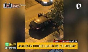 Surco: delincuentes en autos de alta gama vuelven realizar asaltos al paso