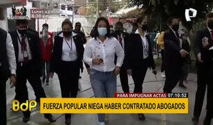 Fuerza Popular niega que haya contratado abogados para impugnar actas