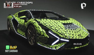 ¡Increíble! Arman réplica de un Lamborghini de tamaño real con piezas de lego