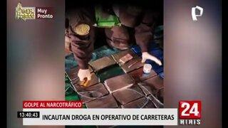 Golpe al narcotráfico: incautan droga en operativo de carreteras