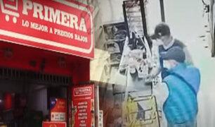Delincuentes roban minimarket muy cerca de comisaría en Los Olivos