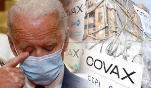 Perú ya no recibirá vacunas donadas por EEUU