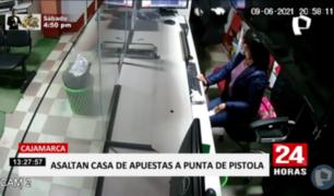 Cajamarca: captan asalto en casa de apuestas en Chota