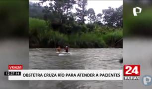 VRAEM: obstetra arriesga su vida cruzando río por sus pacientes