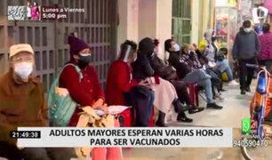 Covid-19: continúan enormes colas en centros de vacunación de SJL, Videna y VES