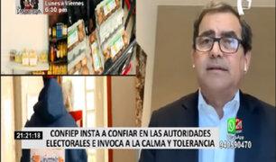 CONFIEP expresa su confianza en las autoridades electorales