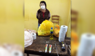 Cajamarca: mujer ocultó droga en pasta dental para llevársela a su hijo en el penal