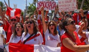 Miami: simpatizantes de Fuerza Popular protestan por presunto fraude electoral