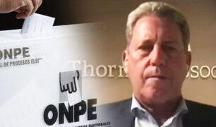 """Alfredo Thorne: """"Hay que ser fiel a los principios democráticos y hay que contar todos los votos"""""""