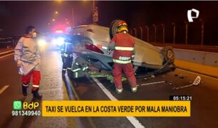 Barranco: conductor pierde control de auto y se despista en plena Costa Verde