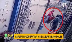 Cajamarca: delincuentes armados roban S/.16,590 de una financiera