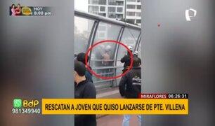 Miraflores: rescatan a joven que intentó lanzarse desde el puente Villena