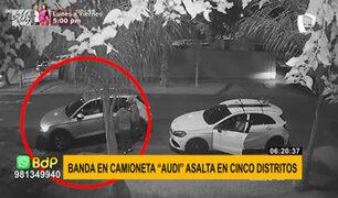 ¡Cuidado! camioneta marca Audi es detectada en asaltos ocurridos en cinco distritos