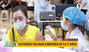 COVID-19: gobierno chino autoriza vacunación de menores de 3 a 17 años