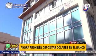 Cuba prohíbe hacer depósitos en dólares como protección de la banca estatal