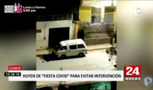 Cusco: centenar de jóvenes huye de intervención en fiesta clandestina