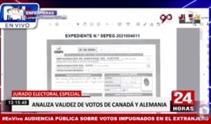 JEE realizó audiencia pública sobre votos impugnados del extranjero