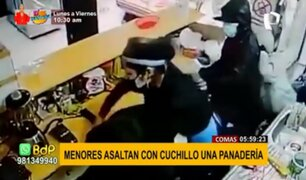 Comas: menores de edad asaltan con cuchillo una panadería