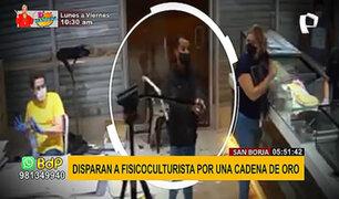 San Borja: disparan a fisicoculturista por robarle una cadena de oro