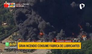 EEUU: gigantesco incendio en planta industrial provoca evacuación de cientos de personas