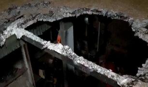 VES: hacen forado para robar maquinaria valorizada en más de S/.80 mil