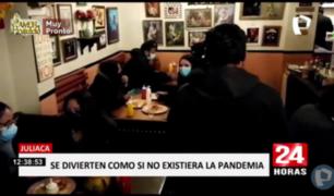 Juliaca: más de 40 intervenidos en discoteca y cantina clandestina