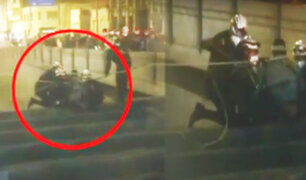 Cercado de Lima: policía salva hombre que intentó saltar de puente Dos de Mayo